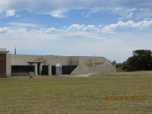 The artillery battery at Fort Glanville