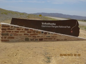 Entry to Vulkathuna-Gammon Ranges National Park