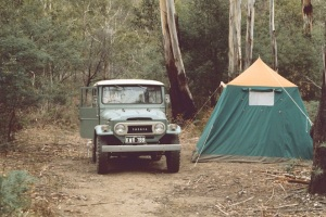 A great camping spot on the way to Wonnangatta Station March 1973