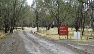 Entry to Barmah NP from Barmah township: about eight kilometres