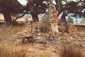 House ruins at Wonnangatta - accidently destroyed by fire in 1957
