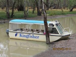 The cruise boat moored in Broken Creek