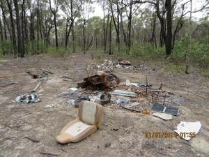 Private Rubbish Dump in Heathcote-Graytown NP
