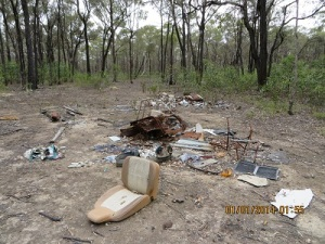 Private Rubbish Dump in Heathcote-Graytown NP