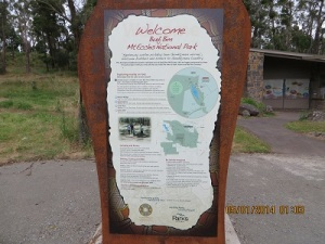 The Information Board at Mount Eccles NP