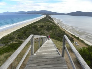 Looking South - Bruny Island Isthmus JCD photo