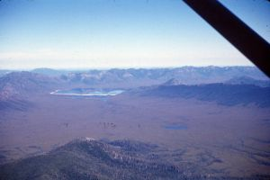 Lake Pedder in the distance: VK5BJE archives