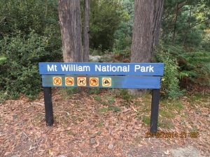 Mount William National Park: note the blue signs