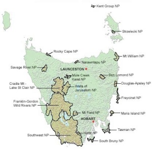 Tasmanian National Parks, minus Macquarie Island, Tasmanian National Parks Service