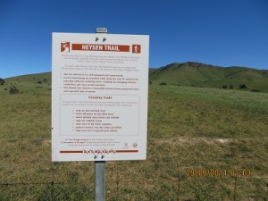 Heysen Trail Notice & access point