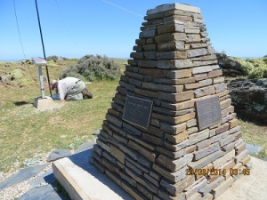 Trig Point and memorial