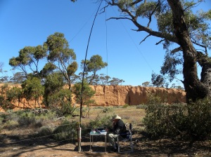 Red Banks Conservation Park. Using the Yaesu 897. JCD photo