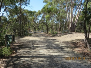 Turn right at Gate 9 onto Stringy Bark Track