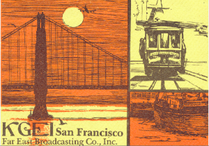 KGEI San Francisco QSL card