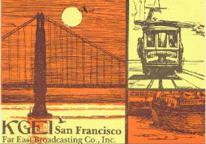 KGEI San Francisco QSL card