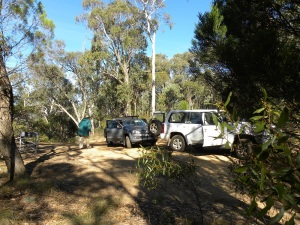 My activation spot and vehicles at Norths Lookout: JCD photo