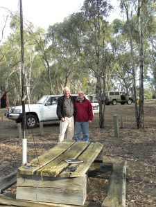 Tony, VK3VTH & John, VK5BJE/P3 in Barmah National Park JCD photo