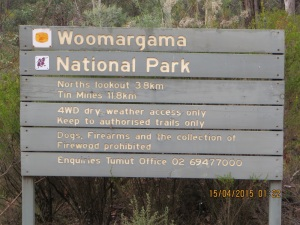 Woomargama NP track maker at 3.8k mark