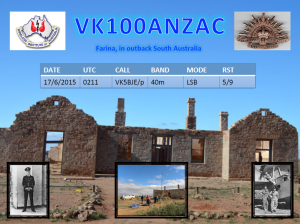 QSL card from Farina