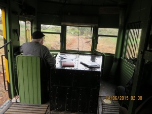 The Driver's cabin in the 'Barwell Bull'