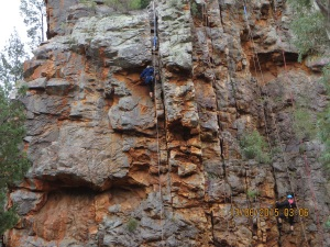 Warren Gorge rock climbers