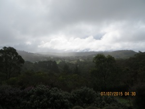 Mark Oliphant Conservation Park on a Winter's day: from our place