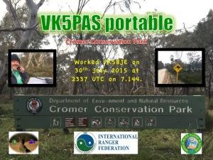 VK5BJE Cromer CP QSL card