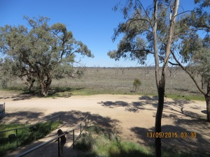 Looking across the flood plain to Murray River from the hotel
