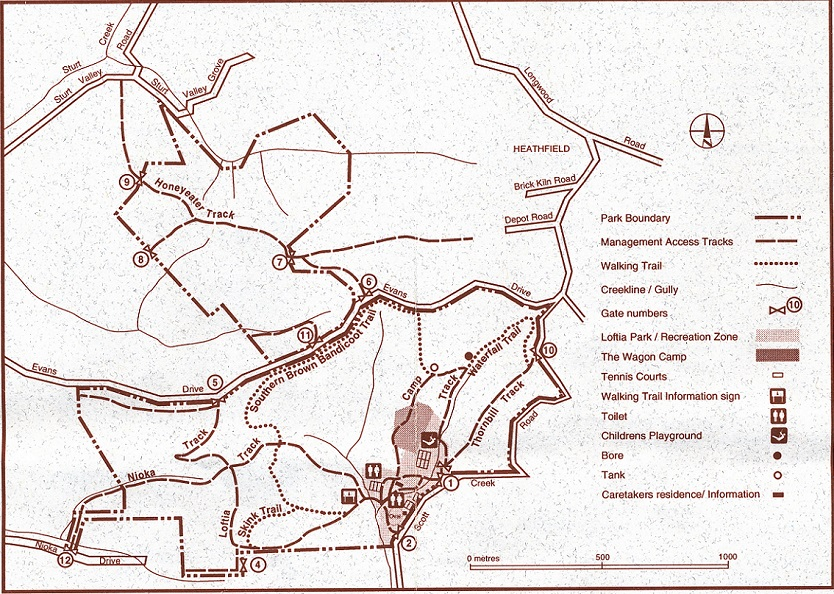 Map of Mark Oliphant CP
