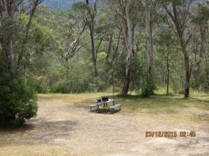 My spot at Tidbinbilla Nature Reserve
