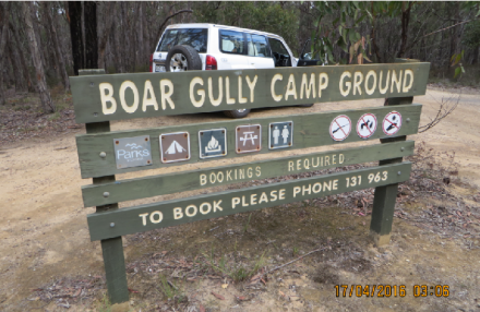 Boar Gully Camping ground