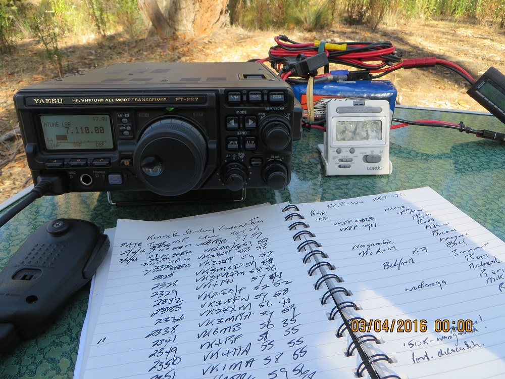 FT897, log and LiFePO4 battery