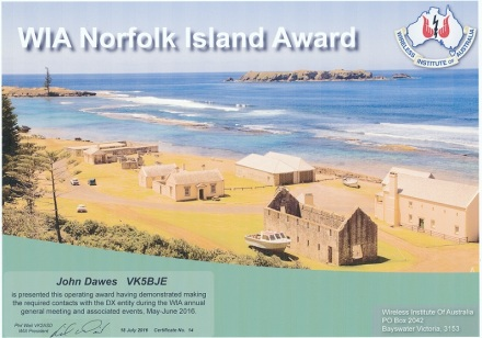 Norfolk Island award blog