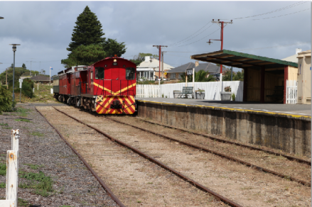 Cockle Train entering Goolwa station