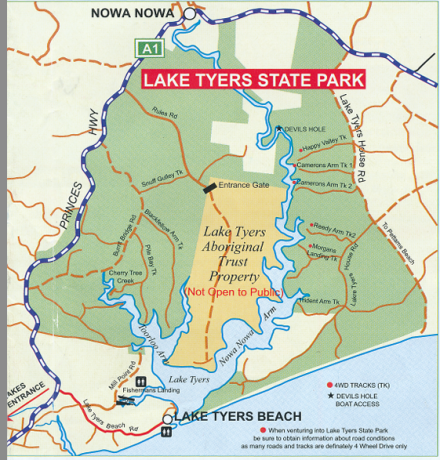 Lake Tyers State Park