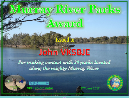 Murray River Award 20 version 1