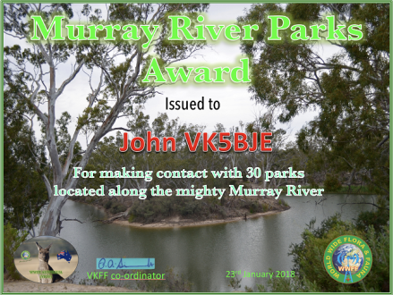 VK5BJE Murray River Parks Hunter 30 v2