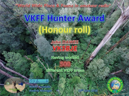 VK5BJE VKFF Hunter Honour Roll 500 v1